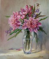 Pink Peonys in a Vase by Lidmar