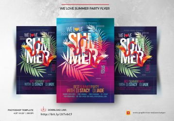We love summer party flyer by satgur