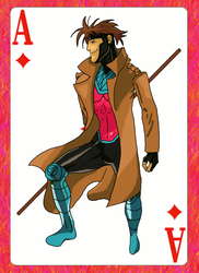Art Trade: Gambit by dragonbarnesz