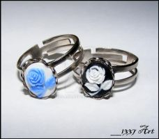 Rose Cameo Rings by 1337-Art