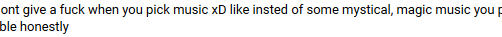 best youtube comment I've gotten in a while by ImmaGoddamPony