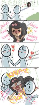 holding hands by chibiirose