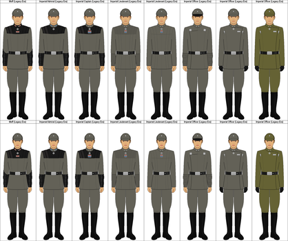 Legacy Era Imperial Officers by MarcusStarkiller
