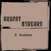 Grungy Border Brushes for PS by wyckedBrush