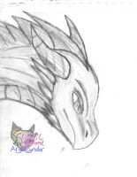 Dragon sketch by AngelCnderDream14