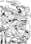 sketch cards ninja turtles by LeighWalls-Artist