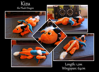 Kizu the Plush Dragon by Starfighter-Suicune