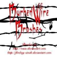 Barbed Wire Brushes by firebug-stock