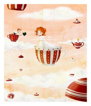tea party in the sky by cocinando-colores