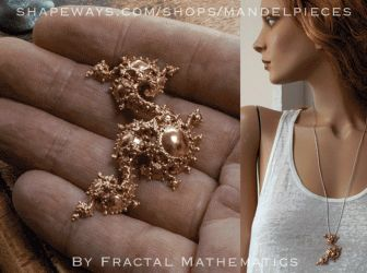 3D Printed Fractal Jewelry -By Fractal Mathematics by MANDELWERK