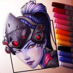 Widowmaker Drawing by LethalChris