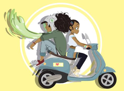 Scooting along by ActionKiddy