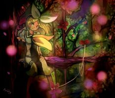 Place untouched by God (Kagamine Rin fanart) by Avishy