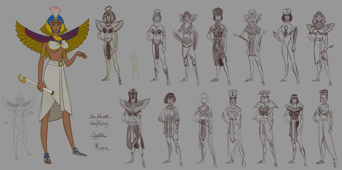 Egypt - Women of the Centuries - WIP by lepetitgroin