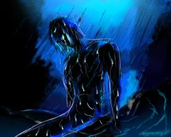 Kabuto . My tears blend with the rain by MyMelodyx