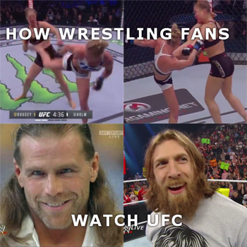 How wrestling fans watch UFC by YorkeMaster