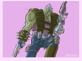 X-Man of the day: CABLE by NelsonHernandez