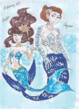 Mermay day 8 - Marble and Agrona by ChocoAni