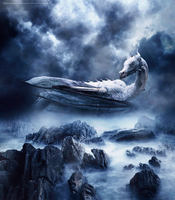 Ancient White Dragon by JovanXtremeDesign