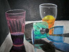 Still Life With Colored Glass by CheVD