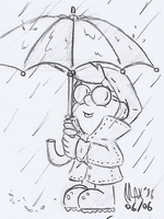 SKETCH - Rainy day by megawackymax