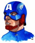 WWII Captain America by nathanobrien