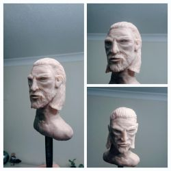 Geralt of Rivea, Polymer Clay Sculpture by makerforge