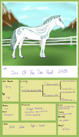 2428 TFR Son Of The Sea God by TsonianFieldsRanch