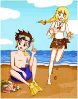 Collecting seashells by franflipay