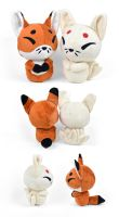Kitsune and Ninetails Plush by SewDesuNe