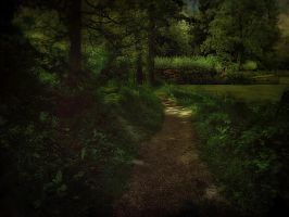 Forest And Bridge - premade background (edited) by SlichoArt