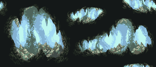 Ice Cave Background by Pukahuna