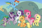 MLP Colored Sketch with Background by harusame