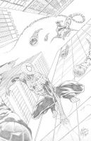 Spider-Man vs Green Goblin by adr-ben
