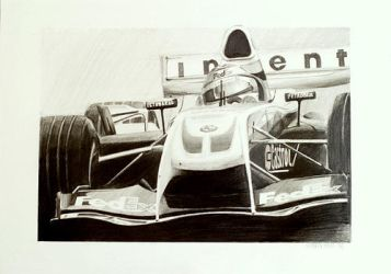F1 pencil drawing by gregbajor