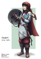 C: Maribeth, Human Cleric by bchart