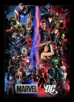 Marvel DC Poster by GeekTruth64