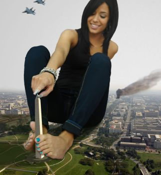 Giantess Jessica in  Washington DC by lowerrider