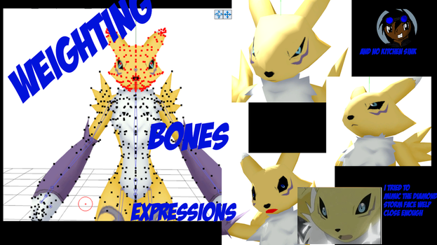 Project Renamon: Bones and expressions by GuilTronPrime