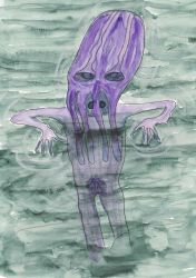 Illithid swimming naked. by windypoint