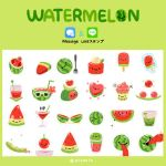 Watermelon sticker pack by pikaole