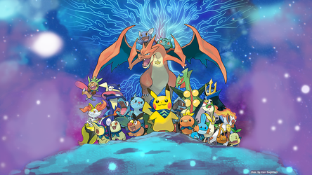 Pokemon Super Mystery Dungeon Desktop Background by ManikkuDerp