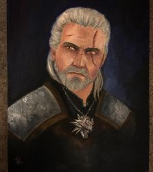 -Geralt Oil Painting- by SoulRansome