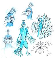 Parker Peacock Dev Sketches by the-gneech