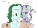 Zarbon x Lilly by Karebear-4ever