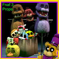 Fnaf 3 Props Download by AustinTheBear