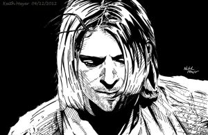 Kurt Cobain (Ink) by KeithMeyerArt