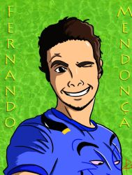 Fernando Mendonssa anime by wescley3d
