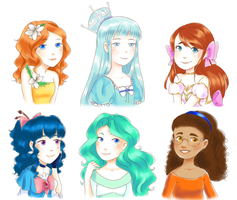 Watercolory Halfbodies by Divine-Princess