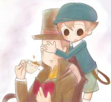 Layton and Luke by IchigoRanch